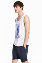 Cotton vest top - White/Palms - Men | H&M 1