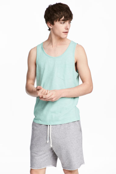 Vest top with a chest pocket - Mint green - Men | H&M CN