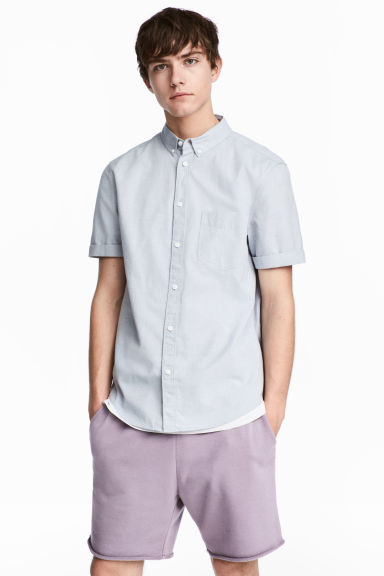 標準剪裁短袖襯衫 - Light blue/Chambray - Men | H&M 1