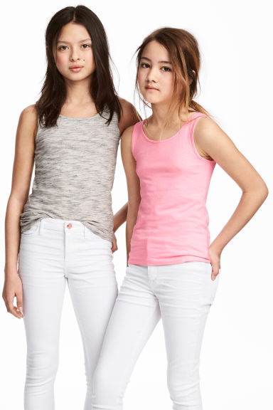 Canotte in jersey, 2 pz - Rosa -  | H&M IT 1