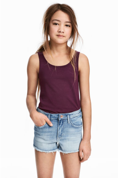 Jersey vest top - Plum - Kids | H&M 1