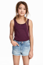 Jersey vest top - Plum - Kids | H&M CN 1