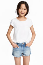 Slub jersey top - White -  | H&M 1