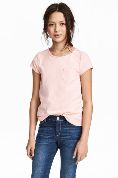Slub jersey top - Light pink - Kids | H&M CA 1