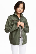Cargo jacket - Khaki green - Kids | H&M 1