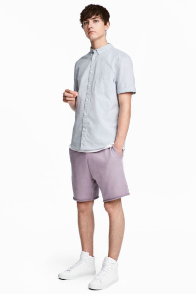 Knee-length sweatshirt shorts - Lilac - Men | H&M 1