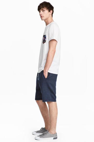 Sweatshirt shorts - Dark blue marl - Men | H&M CA 1