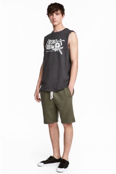 Sweatshirt shorts - Khaki green -  | H&M 1