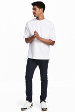 Katoenen chino - Skinny fit - Donkerblauw - HEREN | H&M BE 1