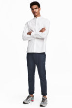 Linen-blend trousers - Dark blue - Men | H&M 1