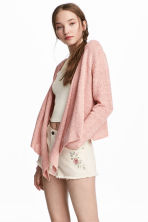 Draped cardigan - Dusky pink - Ladies | H&M 1