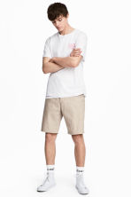 Knee-length cotton shorts - Beige -  | H&M CA 1