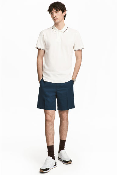 Premium cotton city shorts - Navy blue - Men | H&M GB
