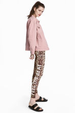 Patterned leggings - Leopard print - Ladies | H&M CA 1