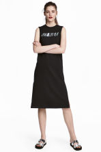 Printed jersey dress - Black - Ladies | H&M 1