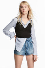 Short jersey top - Black - Ladies | H&M CA 1