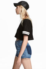 Crop top - Zwart -  | H&M BE 1