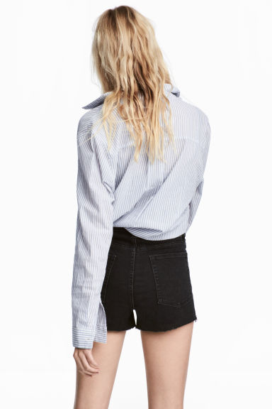 Denim shorts - Black denim -  | H&M CN
