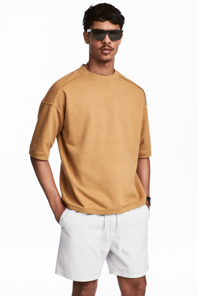 Short-sleeved sweatshirt - Camel - Men | H&M 1