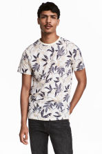T-shirt - Natural white/Patterned - Men | H&M CN 1