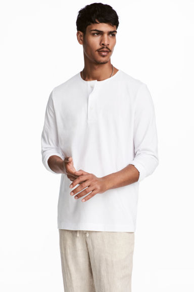 Henley top - White - Men | H&M 1