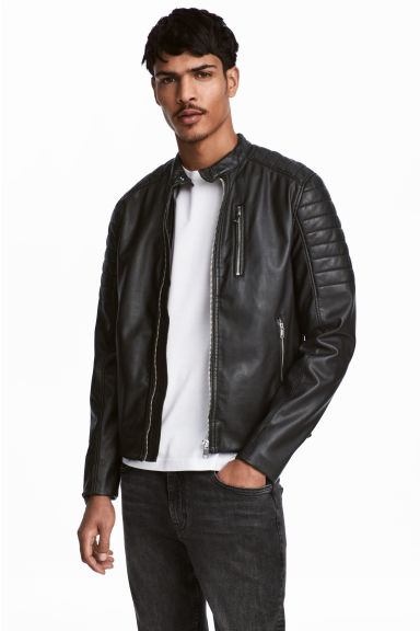 Biker jacket - Black - Men | H&M CN