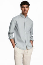 Cotton shirt Regular fit - Light grey - Men | H&M CN 1
