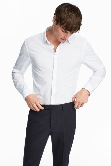 Easy-iron shirt Slim fit - White - Men | H&M CA 1