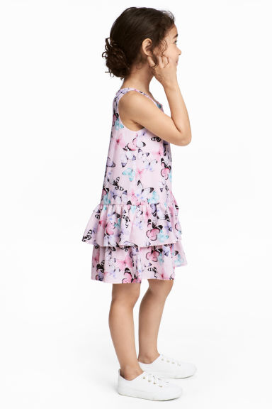 印花洋裝 - Light pink/Butterflies - Kids | H&M
