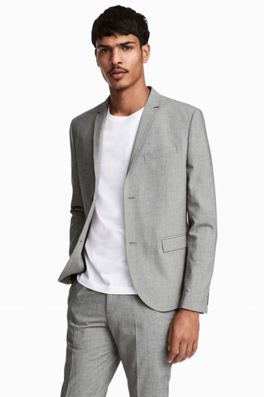 Jacket Skinny fit - Grey marl - Men | H&M GB 1