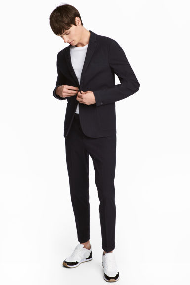 Seersucker trousers Slim fit Model