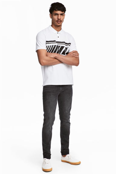 Skinny Regular Jeans - Black washed out - Men | H&M 1