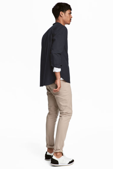 Pantalon en twill Slim fit - Beige clair - HOMME | H&M FR