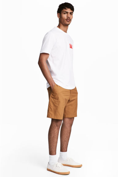 Short chino shorts - Camel - Men | H&M