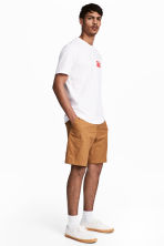 Korte chinoshort - Camel - HEREN | H&M BE 1