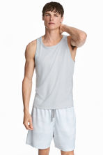 運動背心上衣 - Light grey - Men | H&M 1