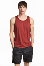 Sports vest top - Rust red - Men | H&M CN 1
