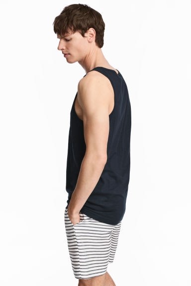Vest top - Dark blue - Men | H&M 1