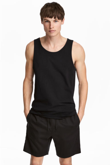 Vest top - Black - Men | H&M CA 1