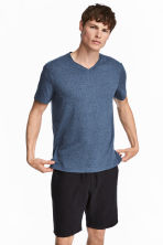 T-shirt - Regular fit - Blauw gemêleerd - HEREN | H&M BE 1