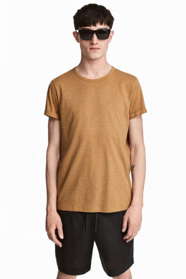 粗紡平紋T恤 - Camel - Men | H&M 1