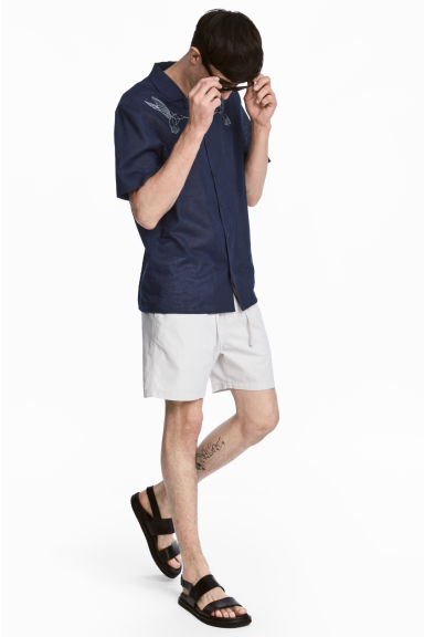 Cotton shorts - Light grey - Men | H&M 1