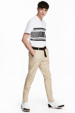 Cotton chinos Slim fit - Beige - Men | H&M 1