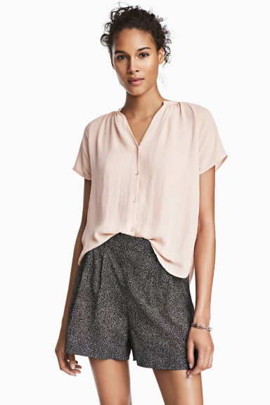 V-neck blouse - Powder pink - Ladies | H&M
