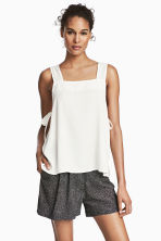 Strap top with ties - White - Ladies | H&M CA 1