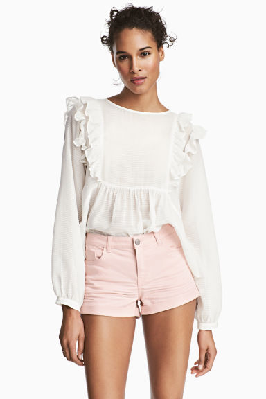 Twill shorts - Powder pink - Ladies | H&M IE 1