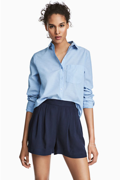 Wide shorts - Dark blue - Ladies | H&M 1
