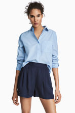 Wide shorts - Dark blue - Ladies | H&M CN 1