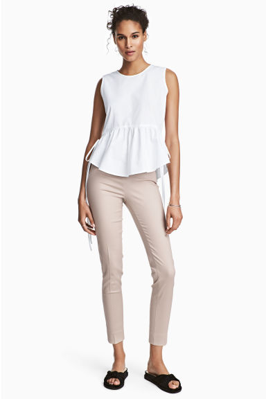 Cigarette trousers - Light beige - Ladies | H&M 1