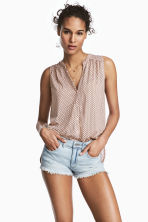 Sleeveless top - Powder pink/Pattern - Ladies | H&M CN 1